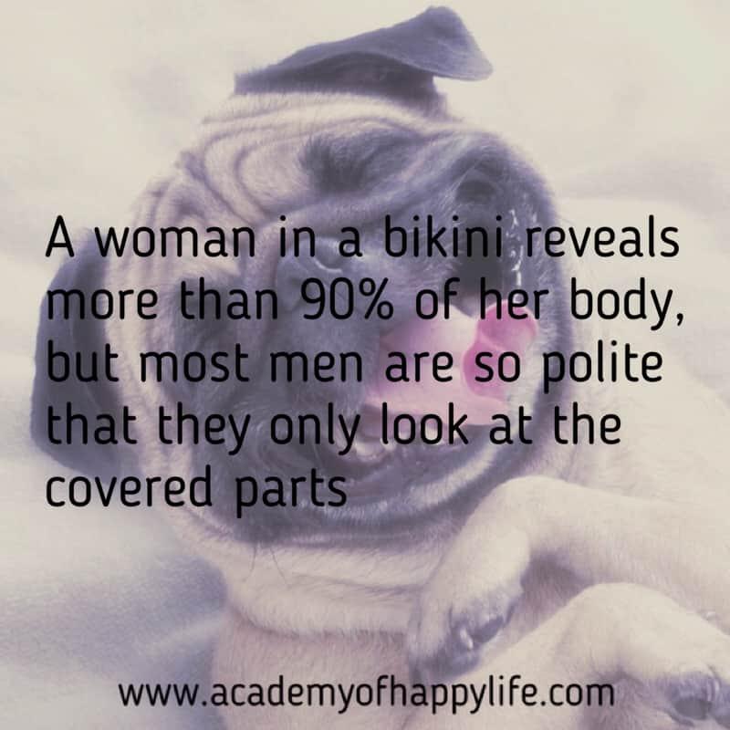 Joke about girls in bikini