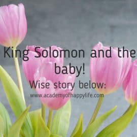 King Solomon and the baby!