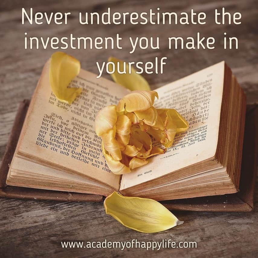 Be smart! Invest in yourself! Investment!