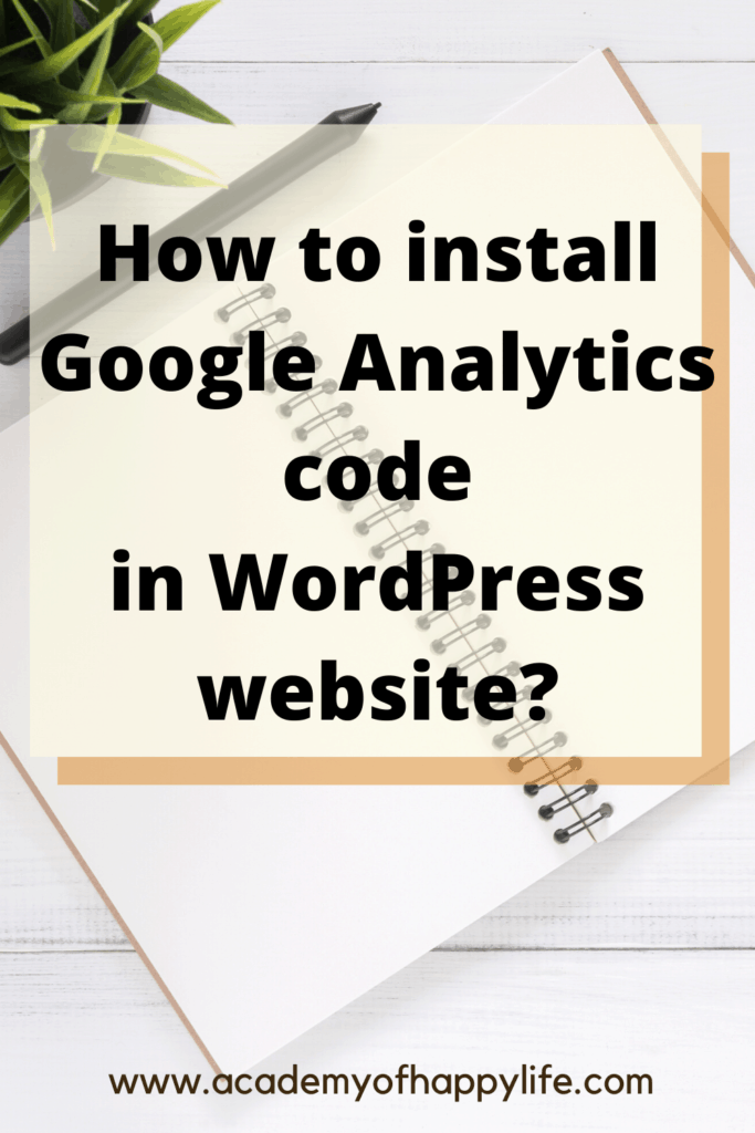 How to instal Google Analytics code in website