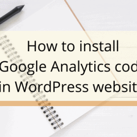 How to instal Google Analytics into a website
