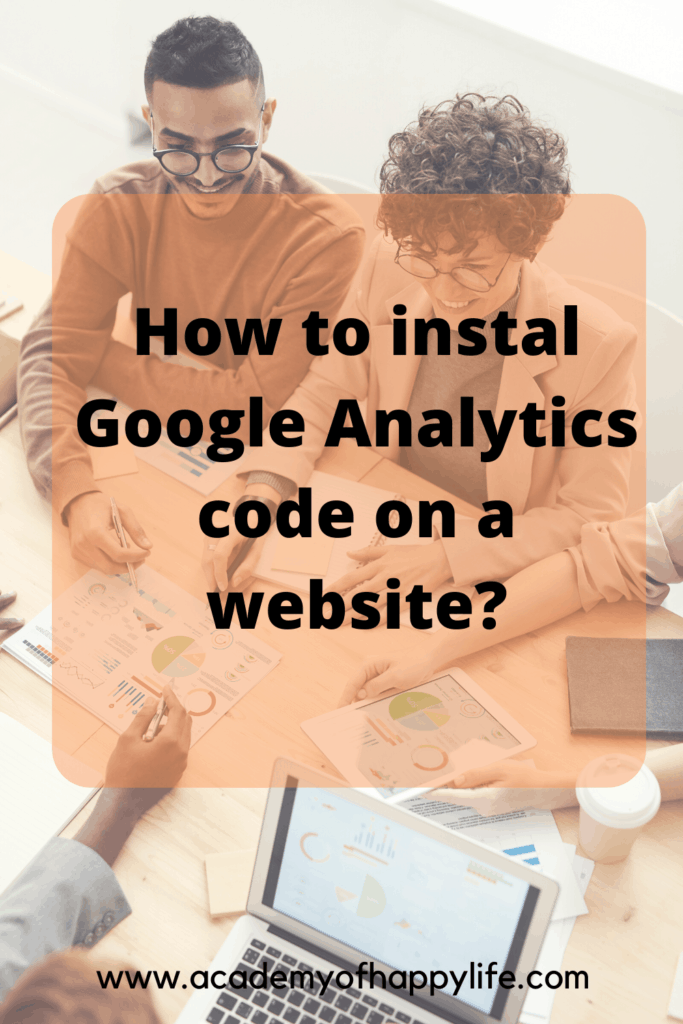 How to instal Google Analytics code on a website?